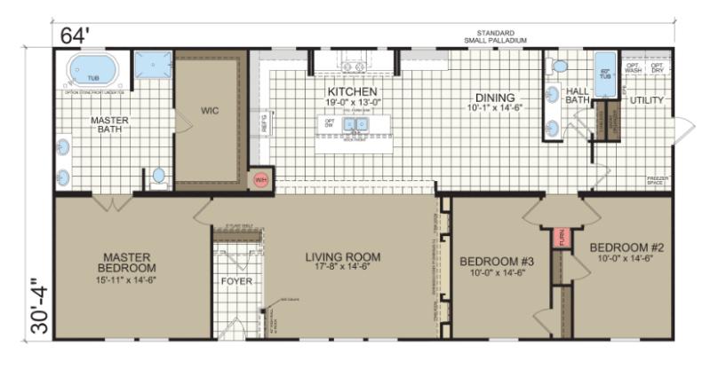 Belle Vue Floor Plan Down East Homes