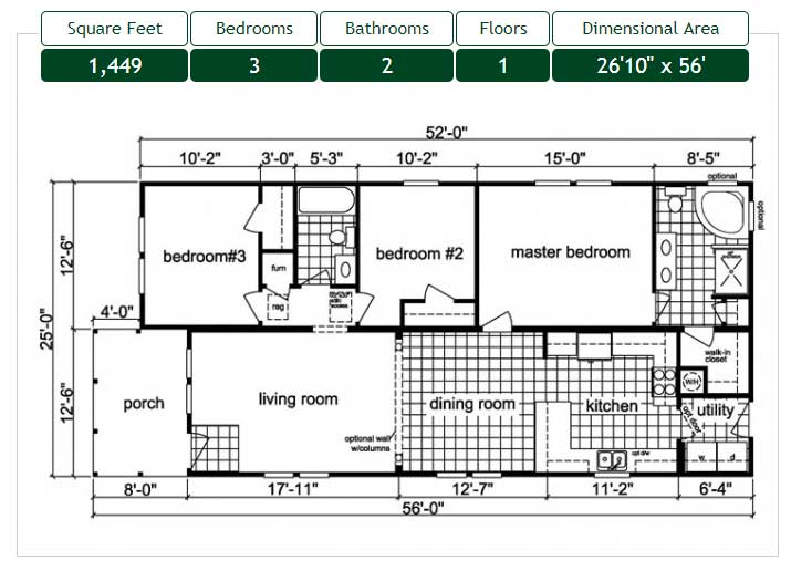 Narrow Lot Floor Plan New Bern NC