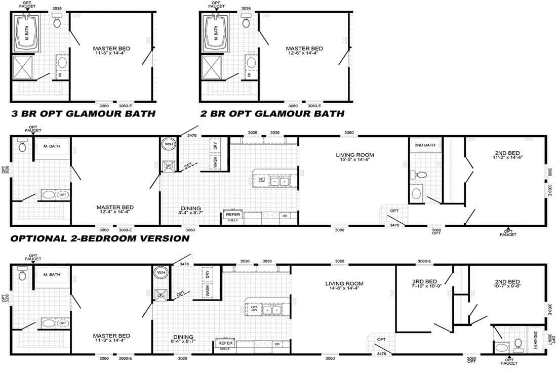 Palmetto 2439 Floor Plan