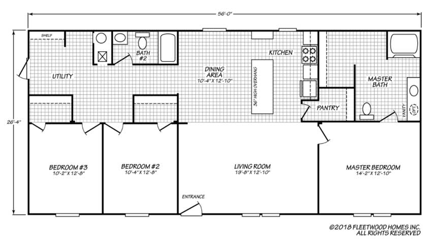 Pure Floor Plan - Down East Homes of Morehead City NC