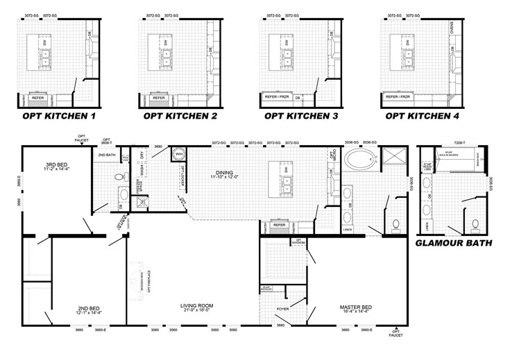 Platinum Floor Plan - Morehead City NC
