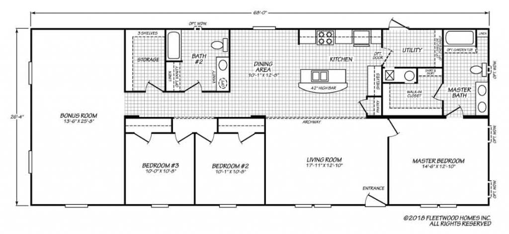 Inspiration 286831 Fleetwood Homes floor plan