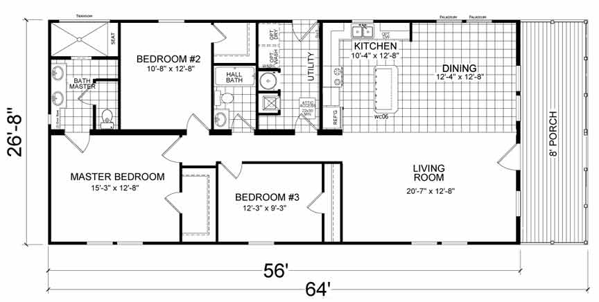 CAPE Narrow Lot Modular Floor Plan - Morehead City, NC