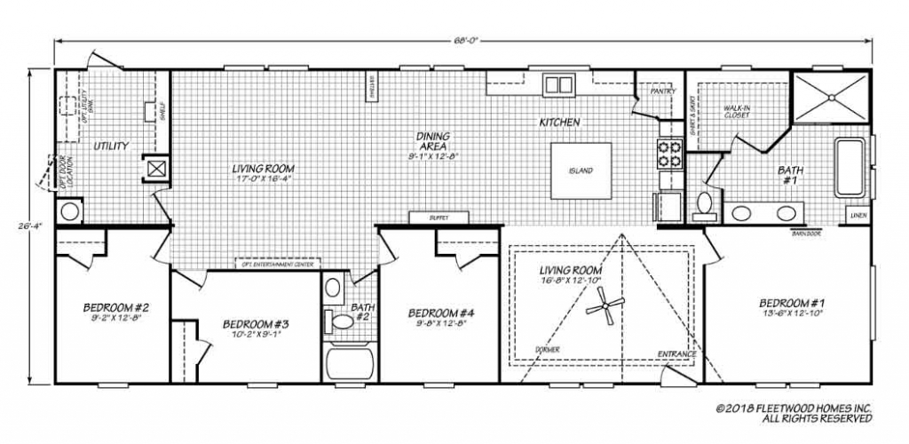 Pegasus 4 bedroom Floor Plan