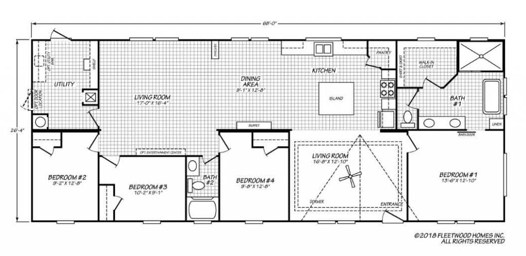 Pegasus 4 bedroom Floor Plan