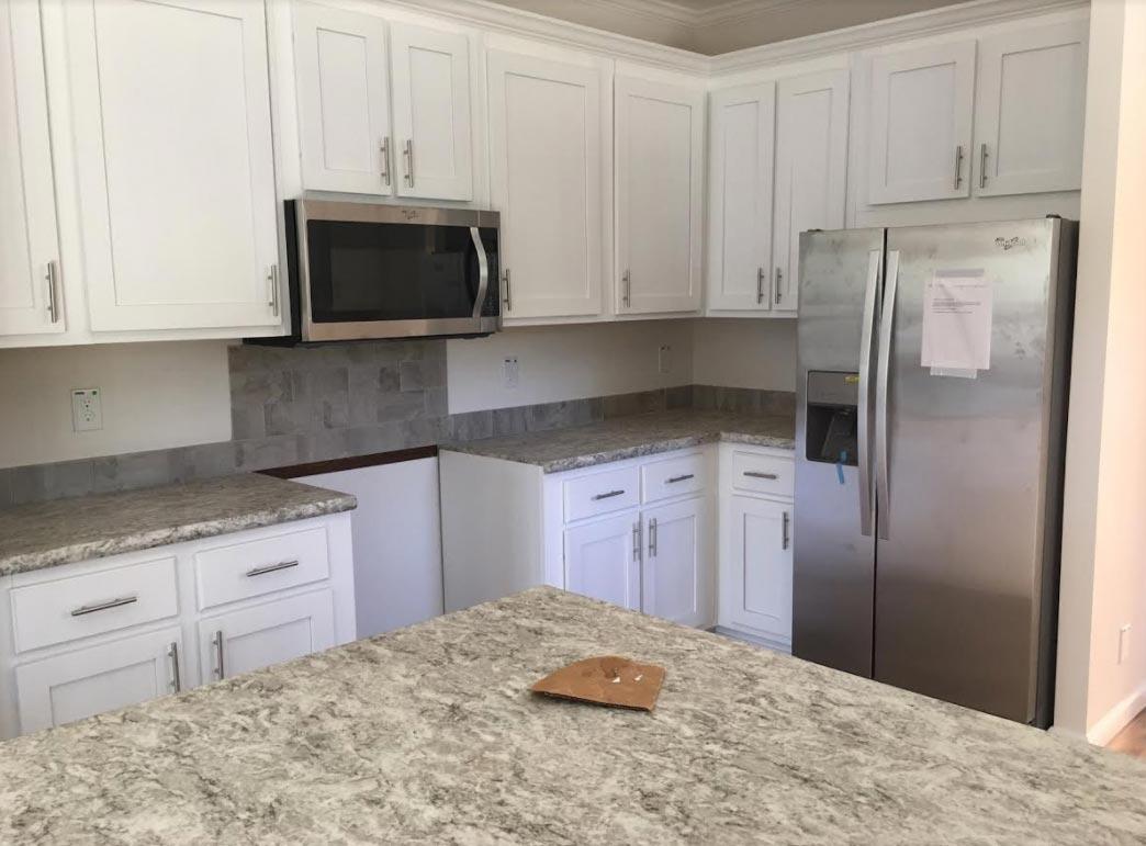 narrow lot modular kitchen NC