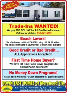 Doublewide Sale Down East Homes Morehead City
