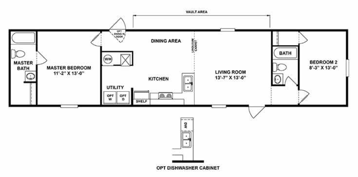 Delight - TRU Homes 2 Bed Floor Plan