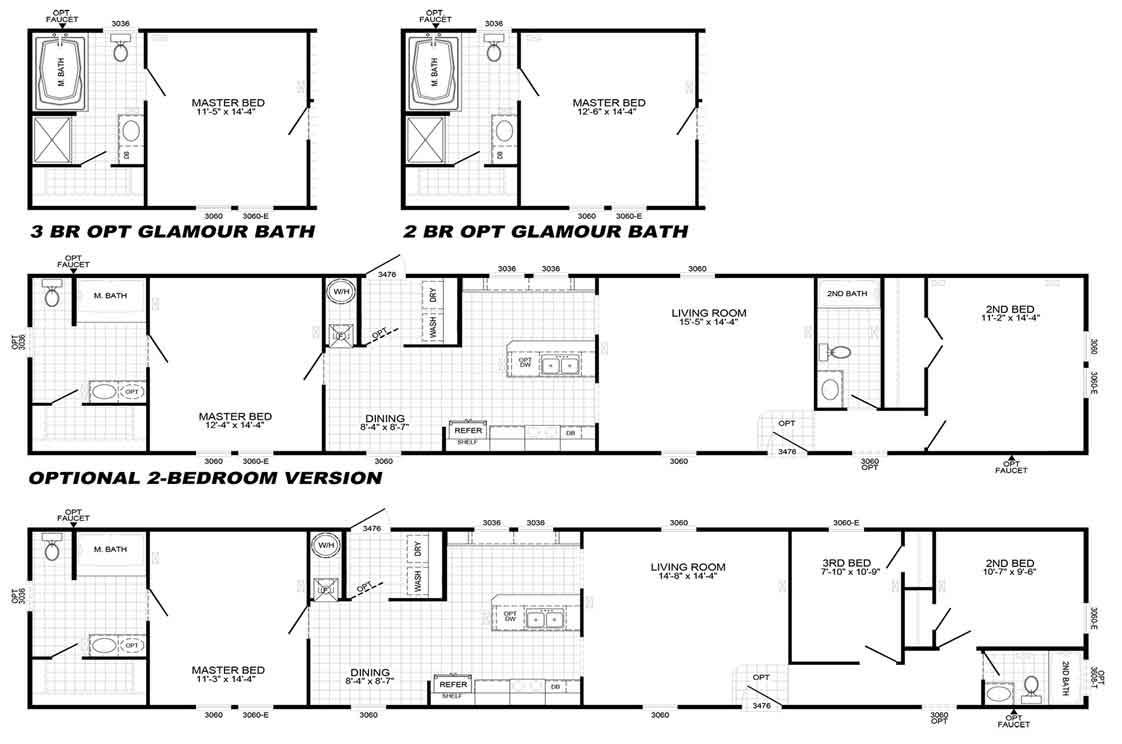 Palmetto 3 Bed Floor Plan