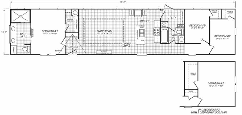 Pegasus 16763 Floor Plan
