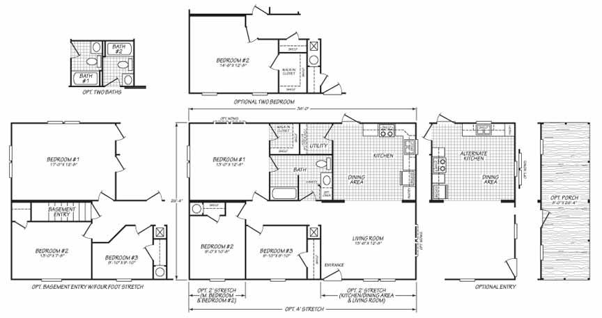dakota floor plan for Narrow Lot - Fleetwood Homes